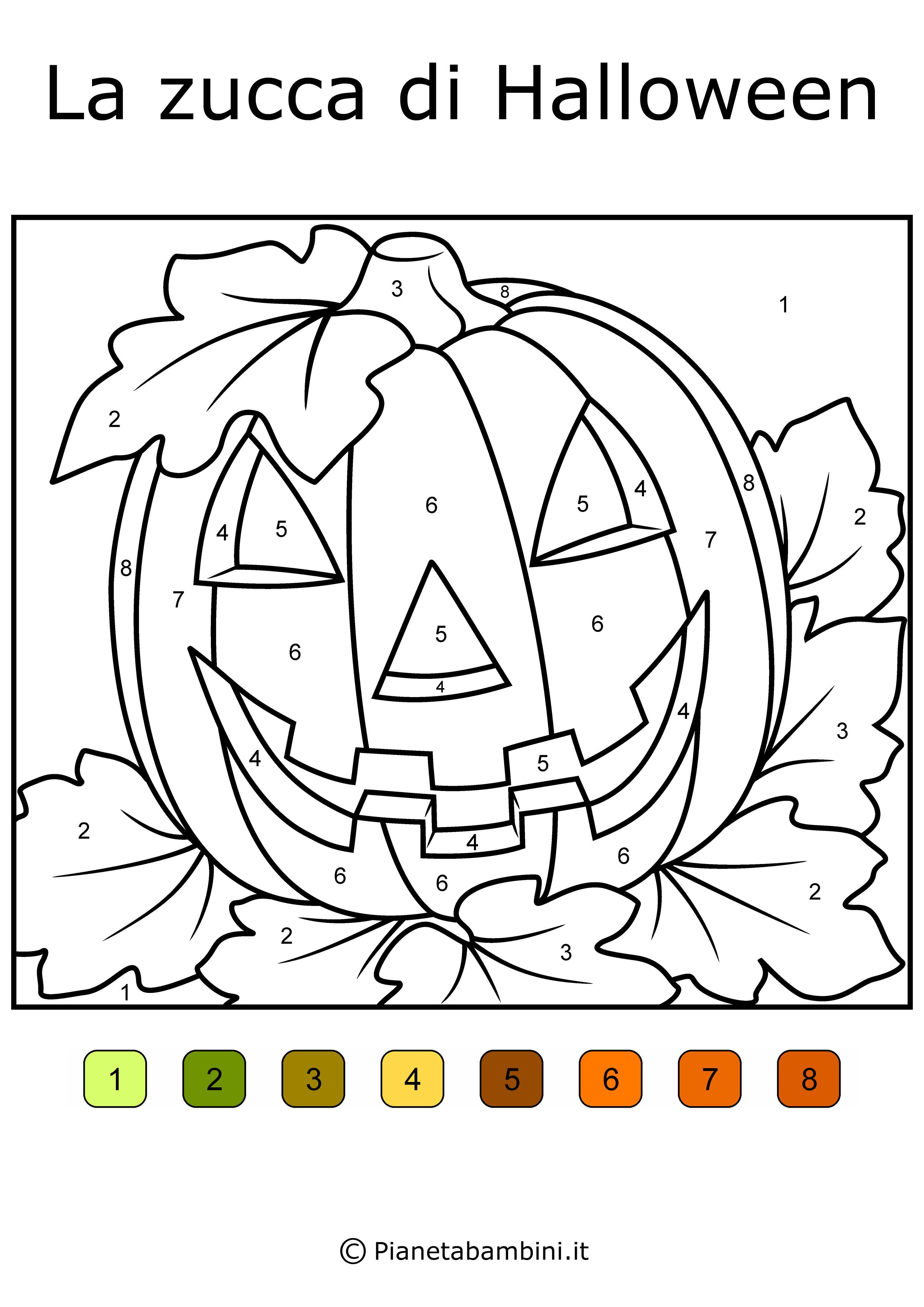 Giochi Di Halloween Da Colorare.Conta E Colora 48 Disegni Da Colorare In Base Ai Numeri Disegni Da Colorare Disegni Giochi Di Halloween