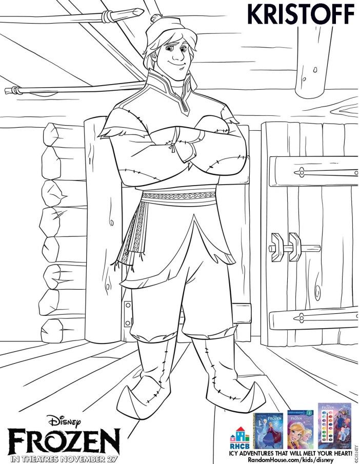 Kristoff Coloring Sheet from Disney\'s Frozen | Coloring pages ...