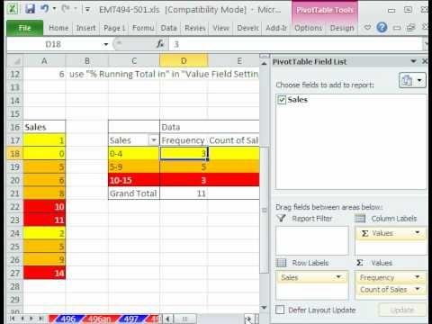 Excel Magic Trick 498 6 Pivottable Calculation Tricks Pivot
