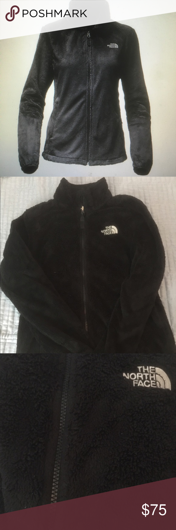 North Face Osito 2 Jacket Size small black Women's osito 2 jacket north face in black fleece zip up with no hood.  Worn a couple times but in perfect condition. Size small. The North Face Jackets & Coats