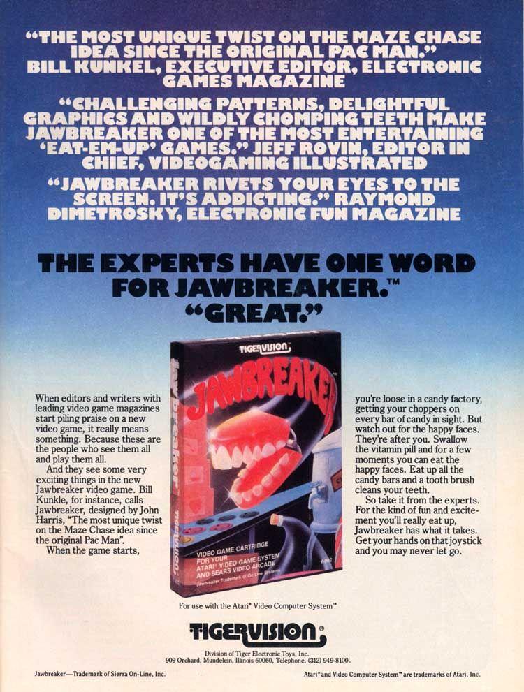 Jawbreaker Atari ad #ads #retrogaming