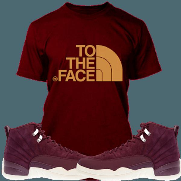 89062b59255178 Planet Grapes T-Shirt Jordan Retro 12 Bordeaux Sneaker Tees Shirt to Match  - TO THE FACE