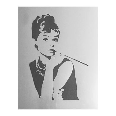 Large Audrey Hepburn Decorating Print Stencil (Style 2) - Custom Stencils from Bakell