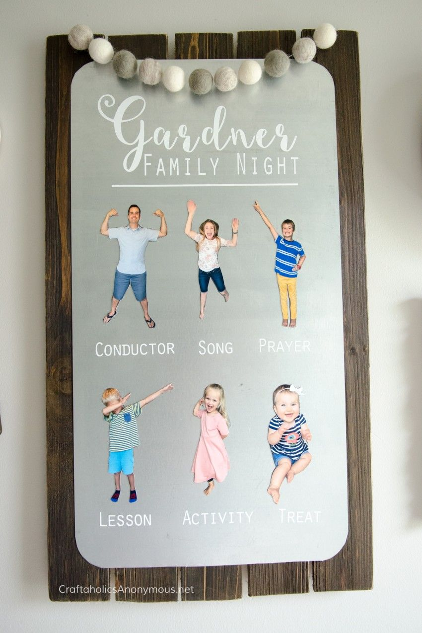 DIY Family Home Evening Board | Clever, Craft and Relief society ...