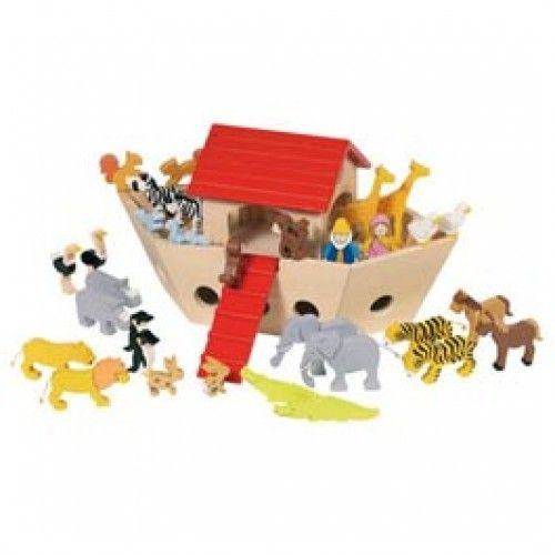 Legetøj i træ - Noahs ark - Se Aura4Laura webshop