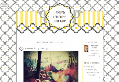 layeredlemon2column free cute summer blog template | Blogging Books ...