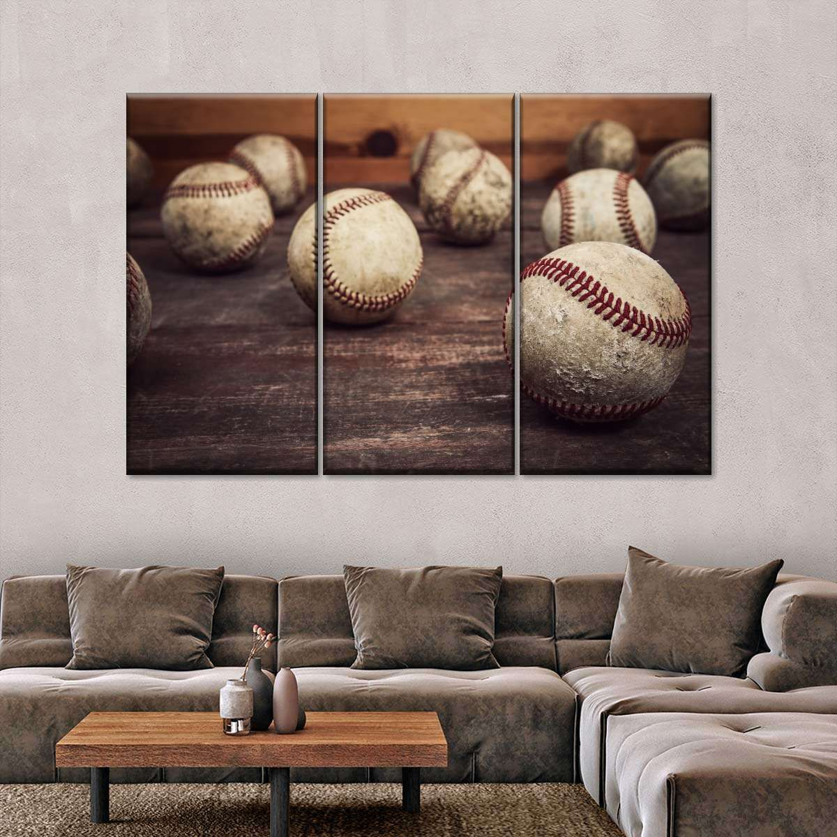 Vintage Baseball Collection Multi Panel Canvas Wall Art In 2021 Vintage Baseball Room Baseball Wall Decor Vintage Baseball Decor