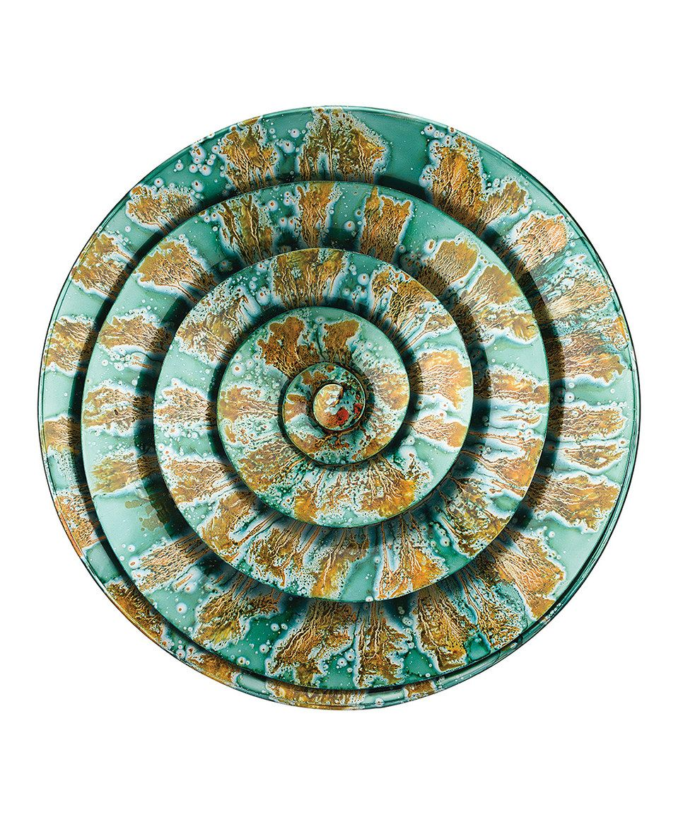 This teal spiral outdoor wall décor by regal art u gift is perfect