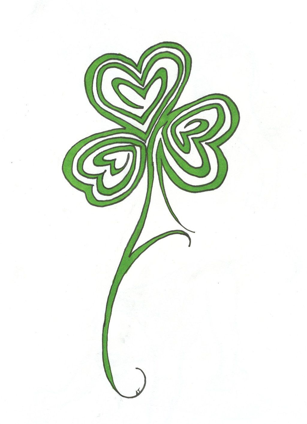 shamrock tattoos designs ideas and meaning tattoos for you ink pinterest shamrock. Black Bedroom Furniture Sets. Home Design Ideas