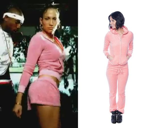 who could forget this classic jlo look the boricua had everyone wanting to rock a pink track suit youll certainly take it back with this ensemble
