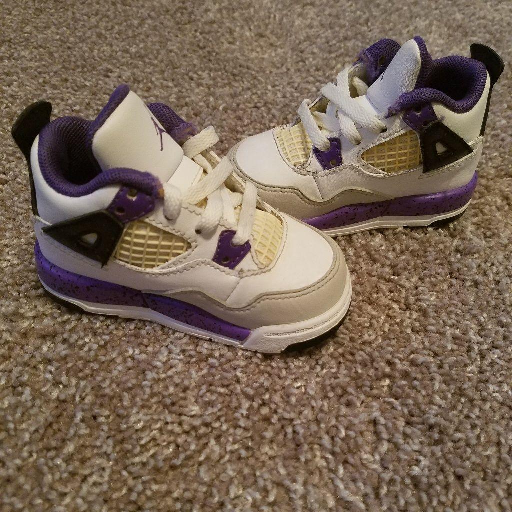 online retailer eb6f0 f9014 Jordan Shoes | Toddler Jordan 4'S | Color: Purple/White ...