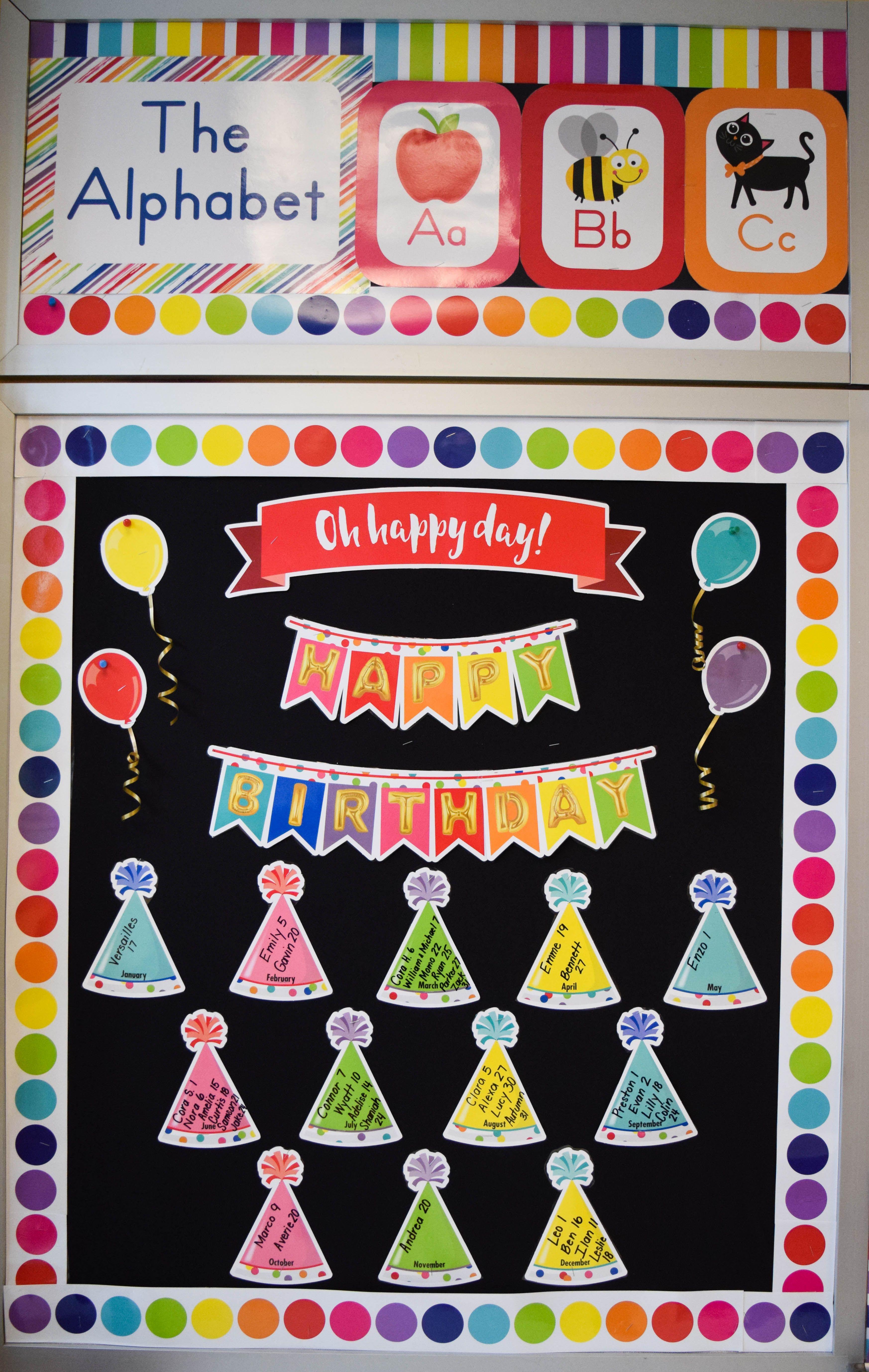 Just Teach Happy Birthday Mini Bulletin Board Set With