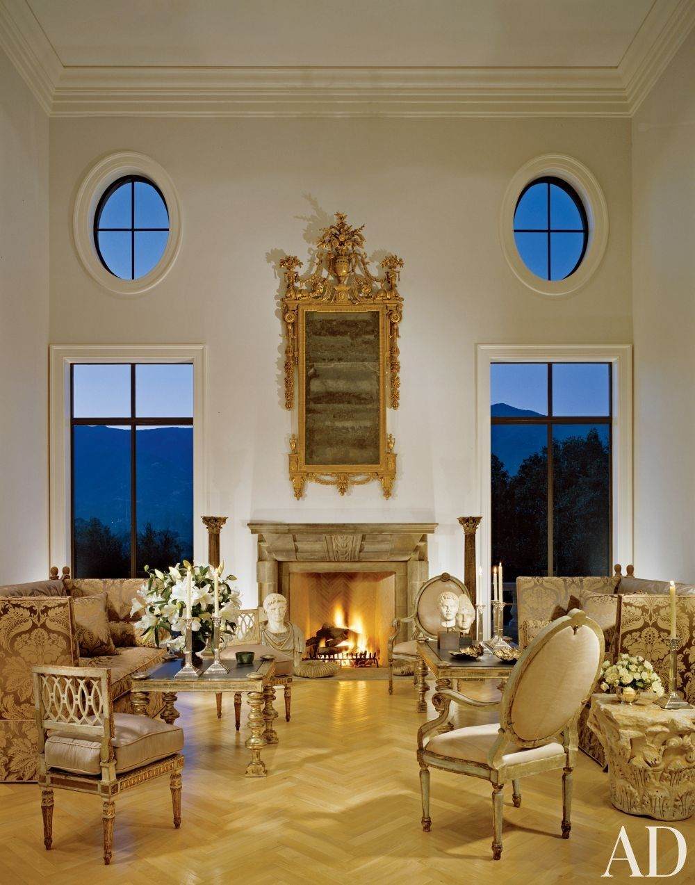 Classic Living Rooms Interior Design: Traditional Living Room By Craig Wright Via @archdigest
