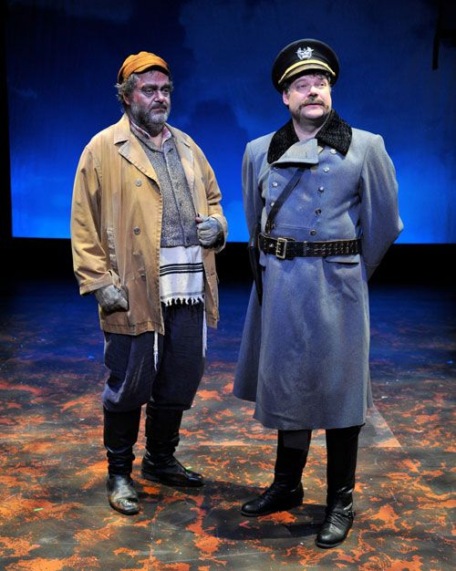 Bill Nolte And Stephen Tewksbury As The Constable Fiddler On The Roof Fiddler Theatre