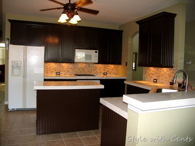 Dark Painted Cabinets 750 Total Kitchen Remodel Sherwin Williams
