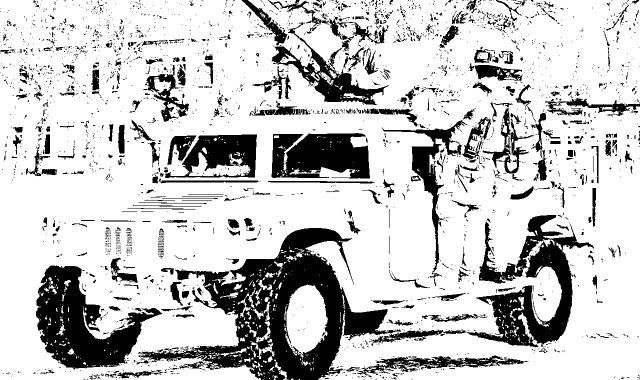 Special Forces Jeep Vehicle Coloring Sheet For Teens