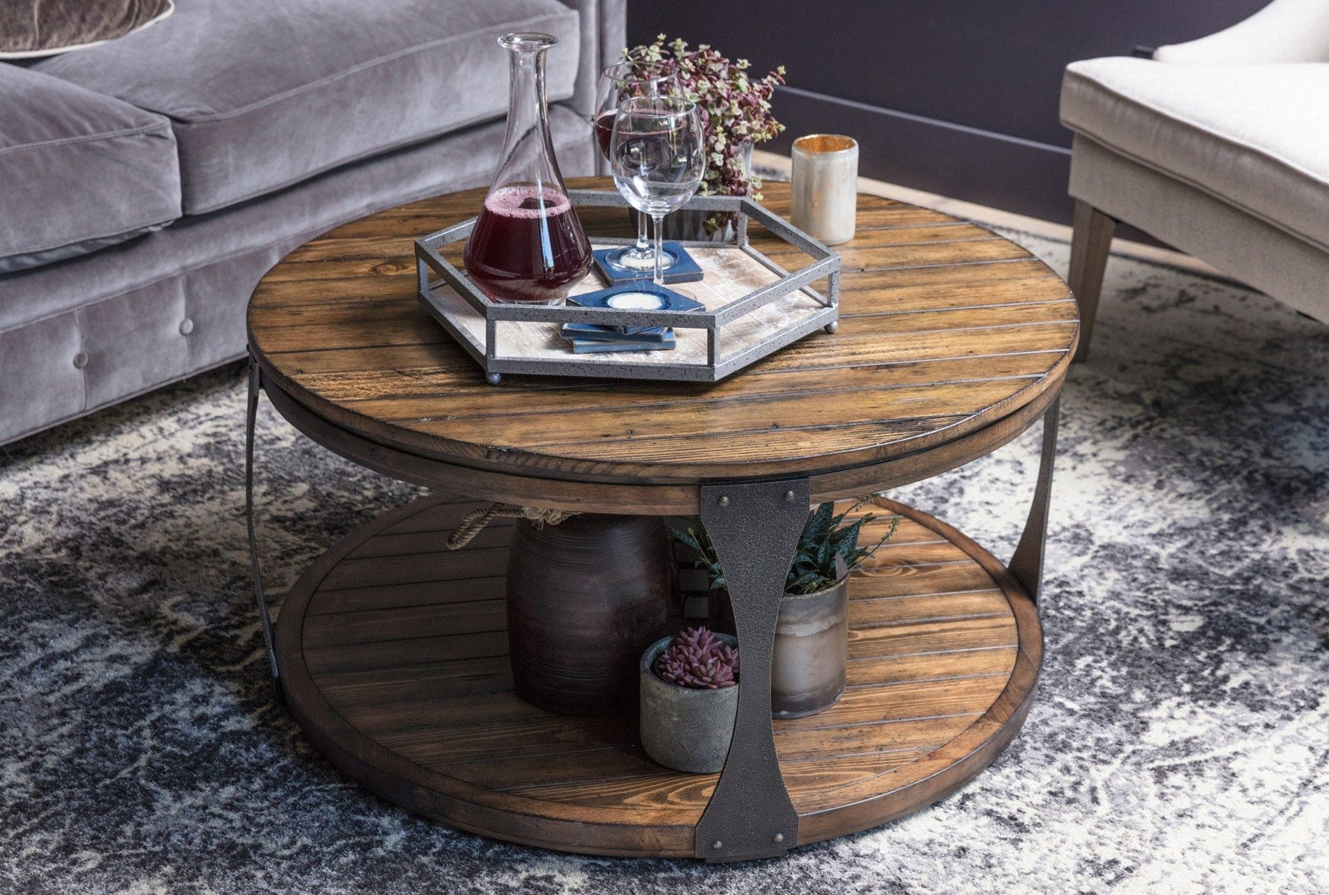Blanton Round Coffee Table Coffee Table Living Spaces Round Coffee Table Coffee Table [ 1288 x 1911 Pixel ]