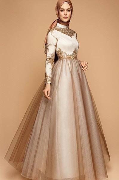 Robe de soiree foulard