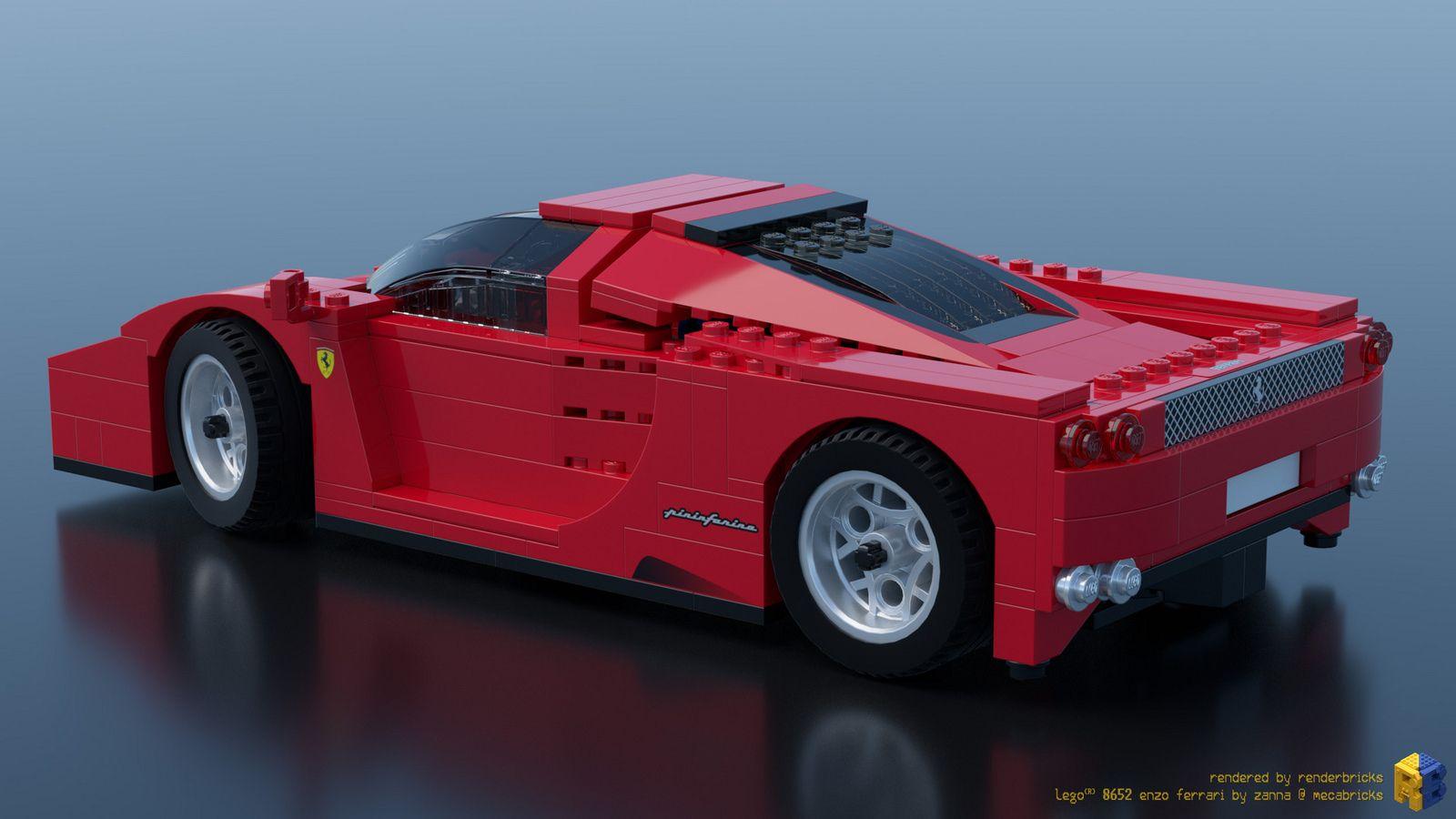 Lego Racers 8652 Enzo Ferrari 1 17 Lego Racers Ferrari Lego