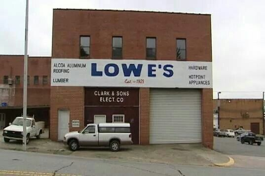 First Lowe S Opened In North Wilkesboro Nc Year 1921