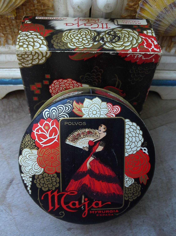 Vintage Maja Myrurgia Face Powder 1.5 Oz. With Box