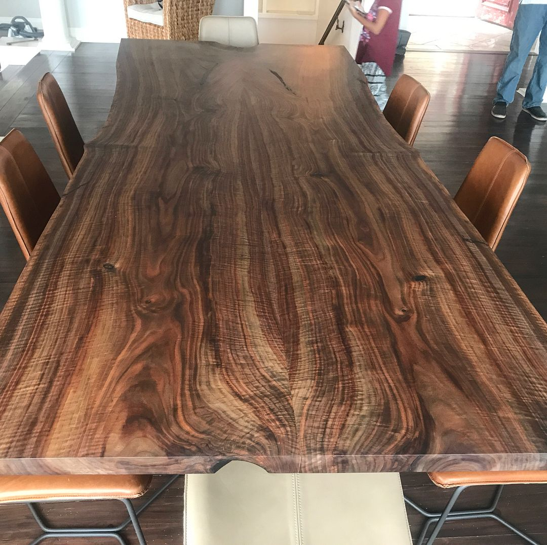 Cool Figured Claro Walnut Table Delivered To Ashland Today I