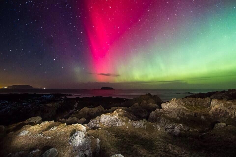Northern lights photographed by Brendan Diver on Feb 28