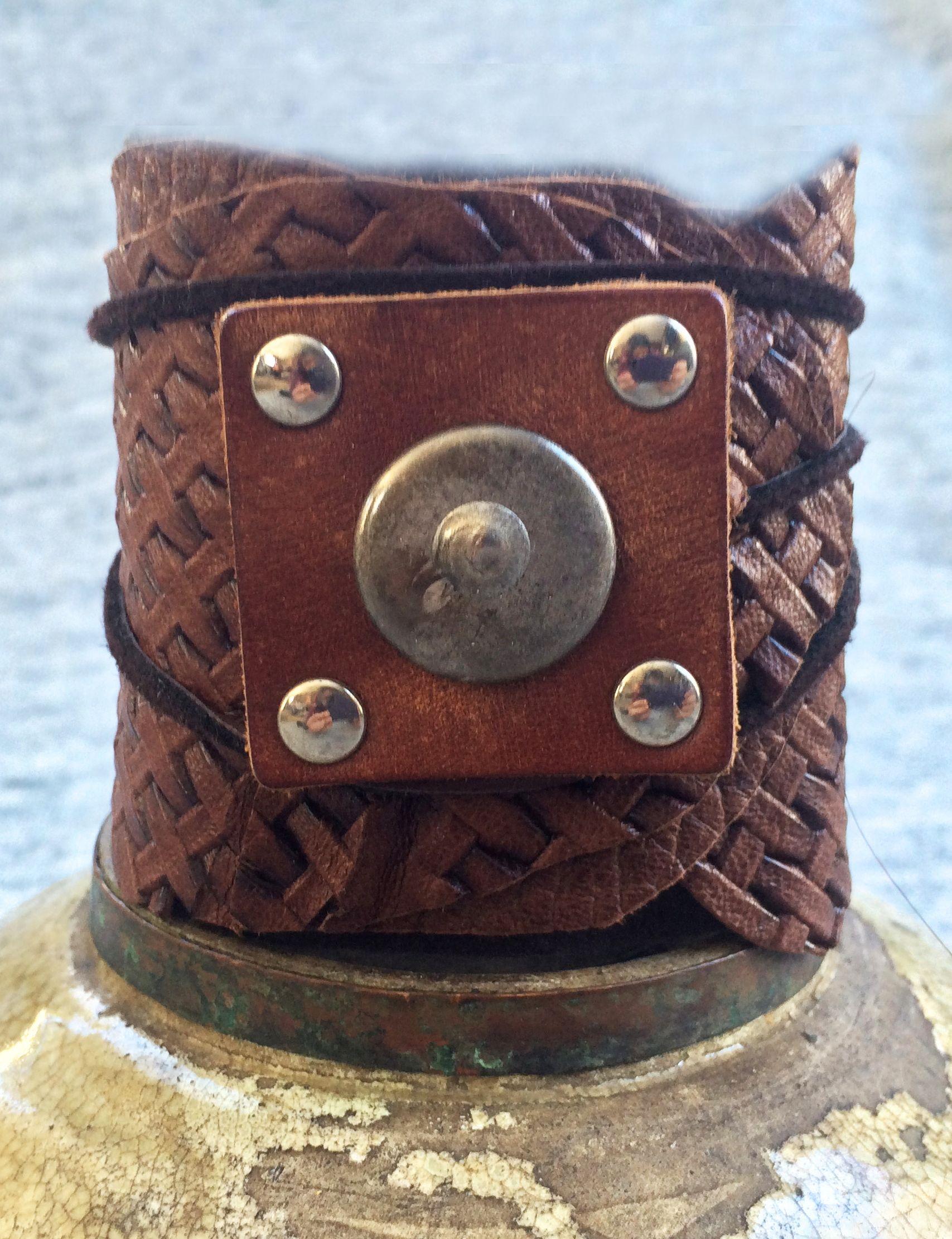 leather wrap/cuff bracelet