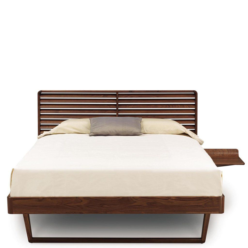 Contour Bed With One Night Stand in Walnut
