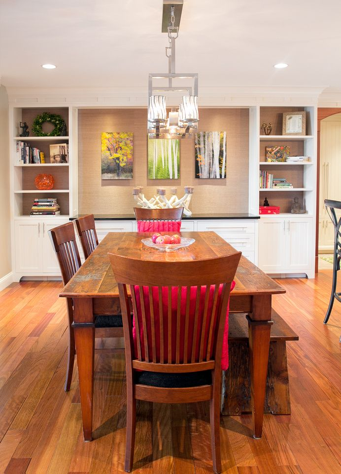 The good home interiors  design  beautiful shot of dining area on recent renovation project highlighting custom built ins and gallery style also lisa hincher lower flying point kitchen dreamy rh ar pinterest