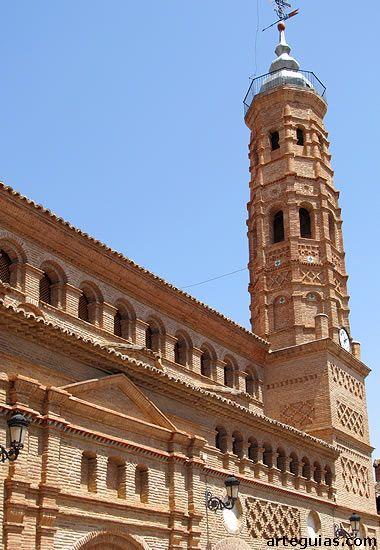 Iglesia mudéjar de Paniza Zaragoza España.   Mudejar, España, Zaragoza