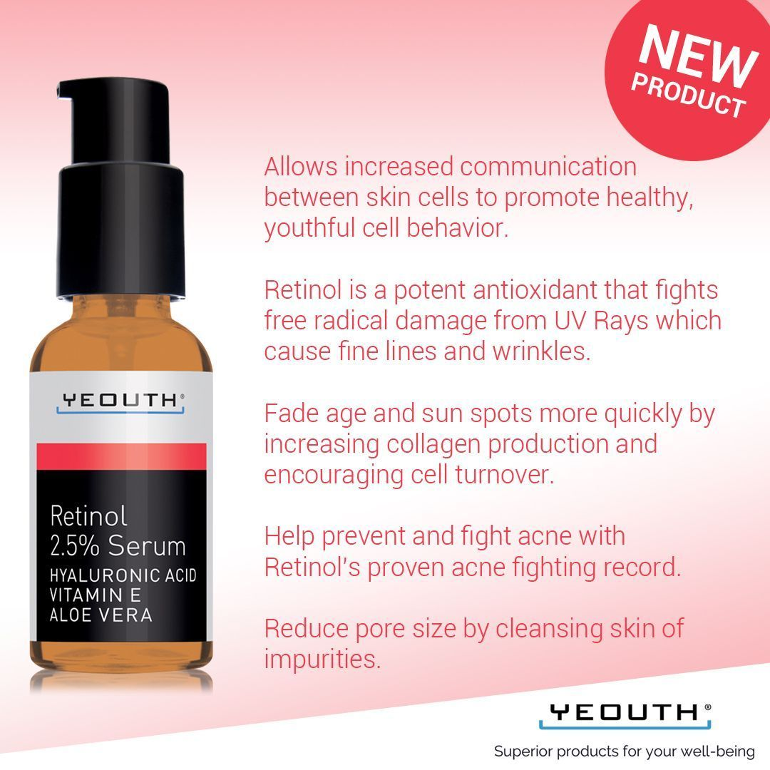 Yeouth just launched its retinol serum and weure excited to