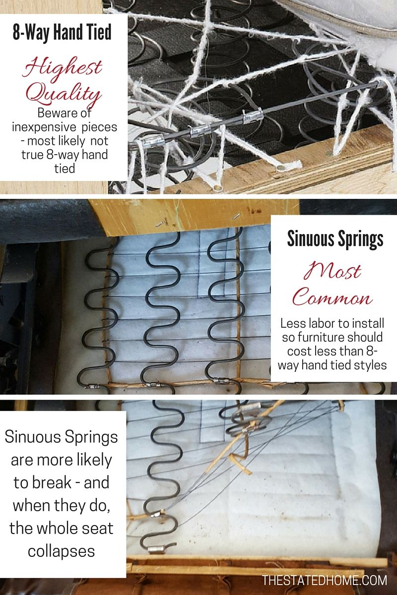 Sinuous Springs Vs Eight Way Hand Tied Our Sofa Suspension
