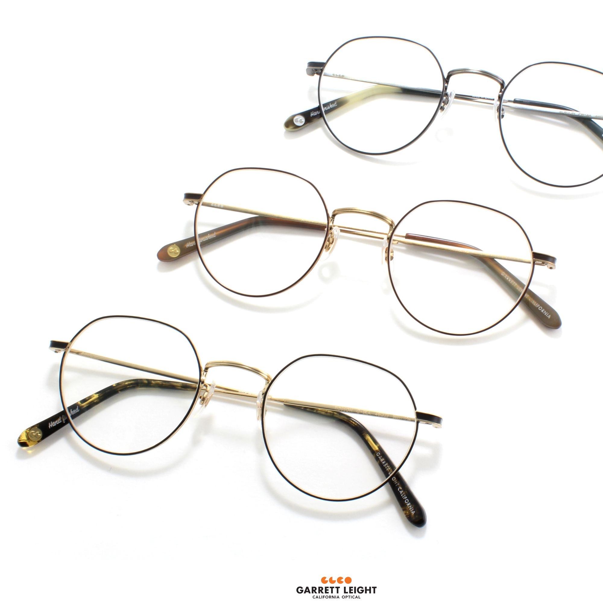 c15833ab162 The Garrett Leight - Robson Eyeglasses is a timeless P3 shape with thin  metal construction and a distinctive angled top rim.