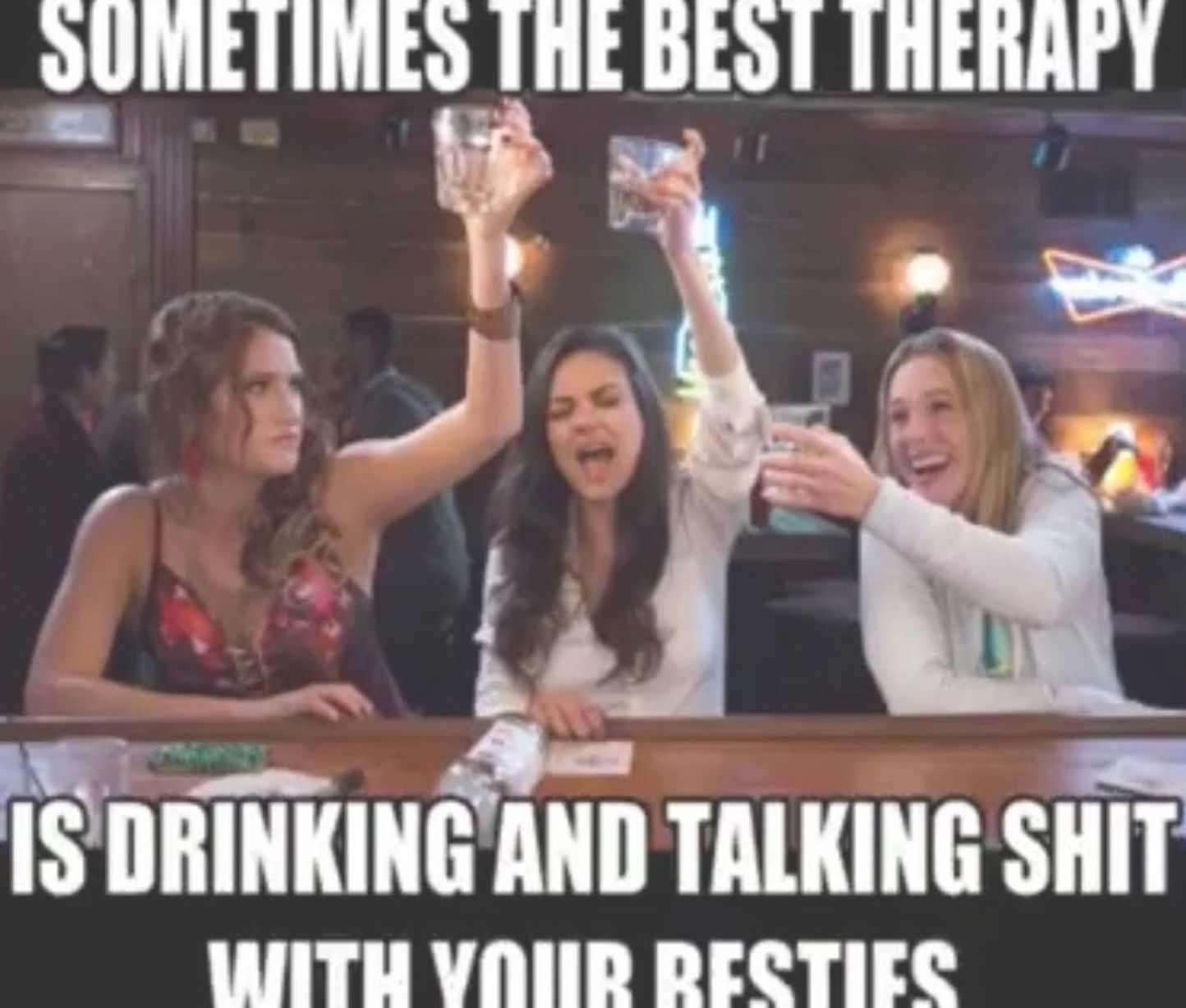 Sometimes The Best Therapy Is Drinking With Your Friends Plan Thehobbie Party Quotes Funny Funny Drinking Quotes Drinking With Friends Quotes