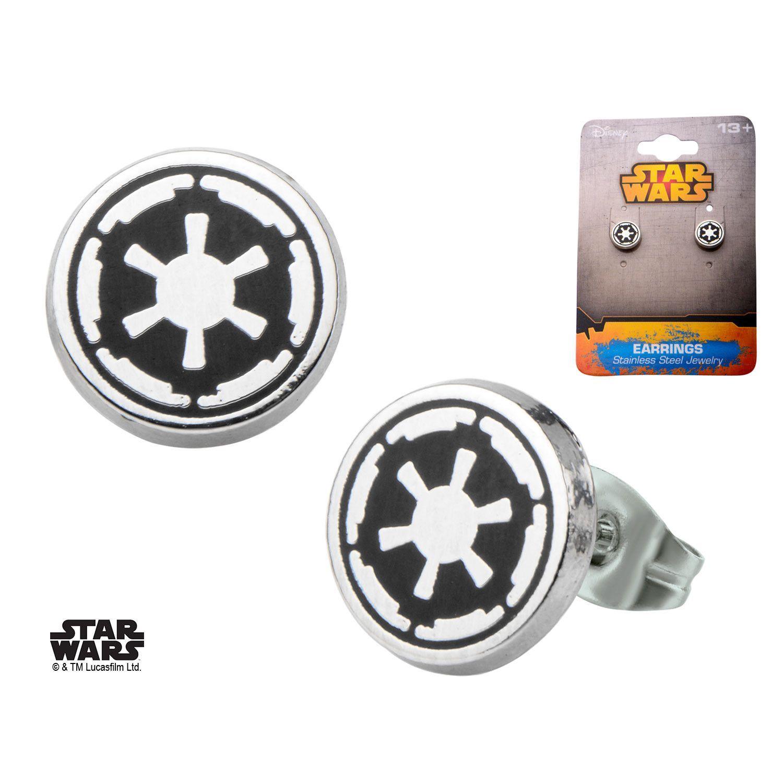 Swelling under nose piercing  Star Wars Stainless Steel Galactic Empire Symbol Enamel Stud