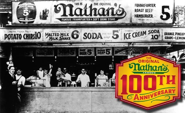 A CENTURY OF NATHAN'S: The history of the famous hot dog, from early days to status as a Coney Island icon