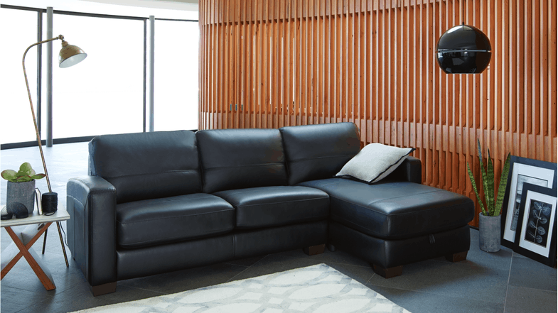 Awe Inspiring Compac 2 5 Seater Leather Sofa Bed With Storage Chaise Pabps2019 Chair Design Images Pabps2019Com