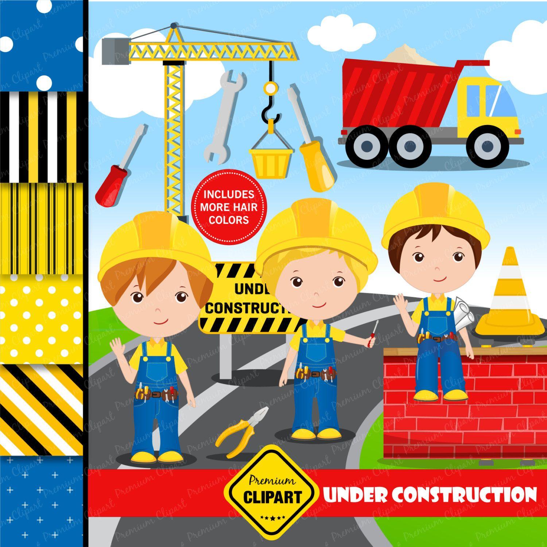 Construction clipart, Construction Boy Clipart, Constructions Truck ...