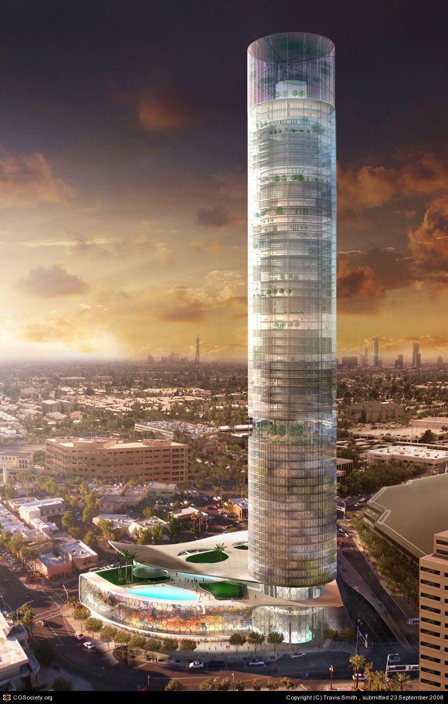 Cgtalk - Cylinder City Travis Smith 3d High Building