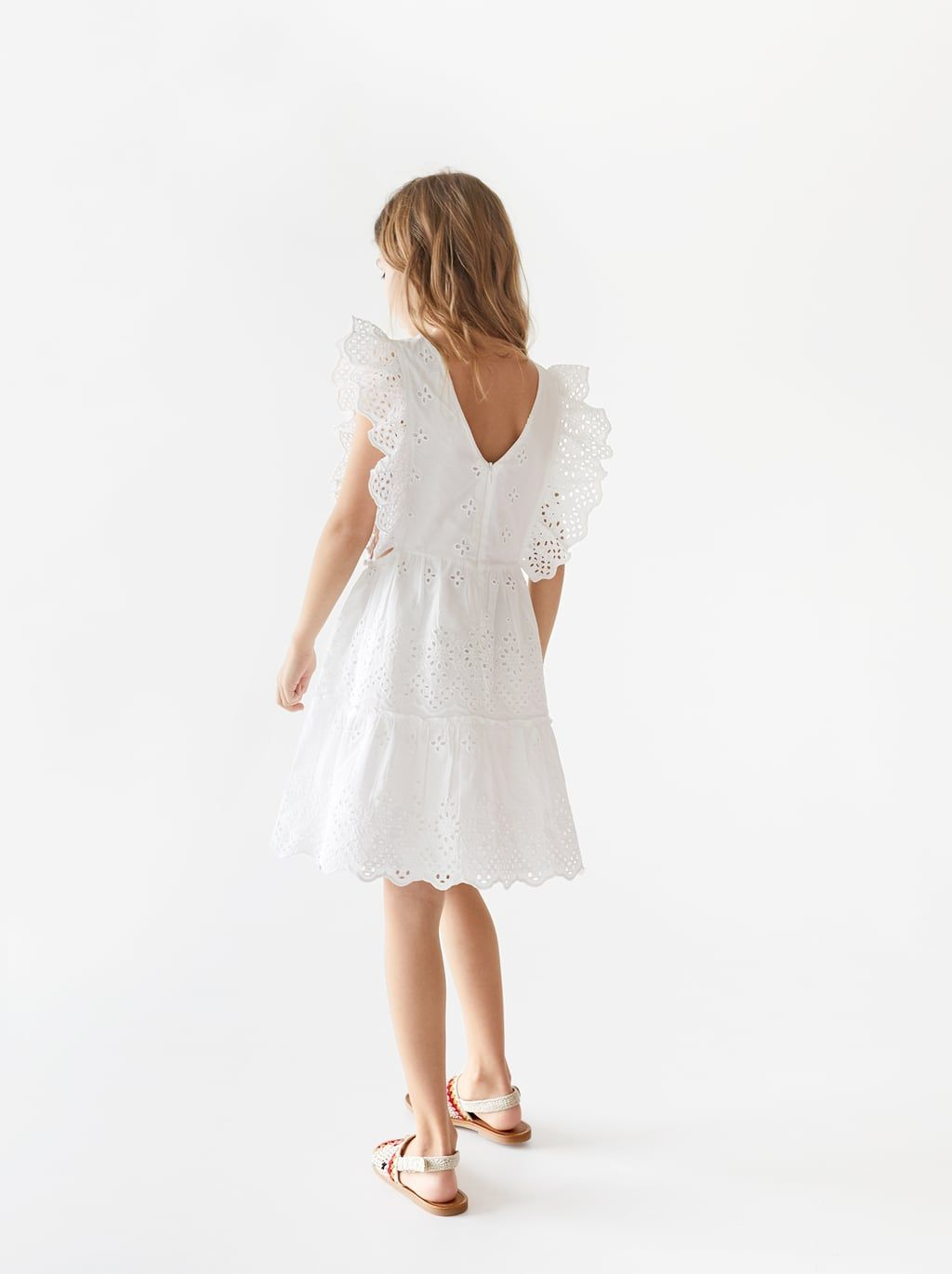 db550591 DRESS WITH SWISS EMBROIDERY-SPECIAL OCCASION-GIRL | 5 - 14 yrs-KIDS | ZARA  United States