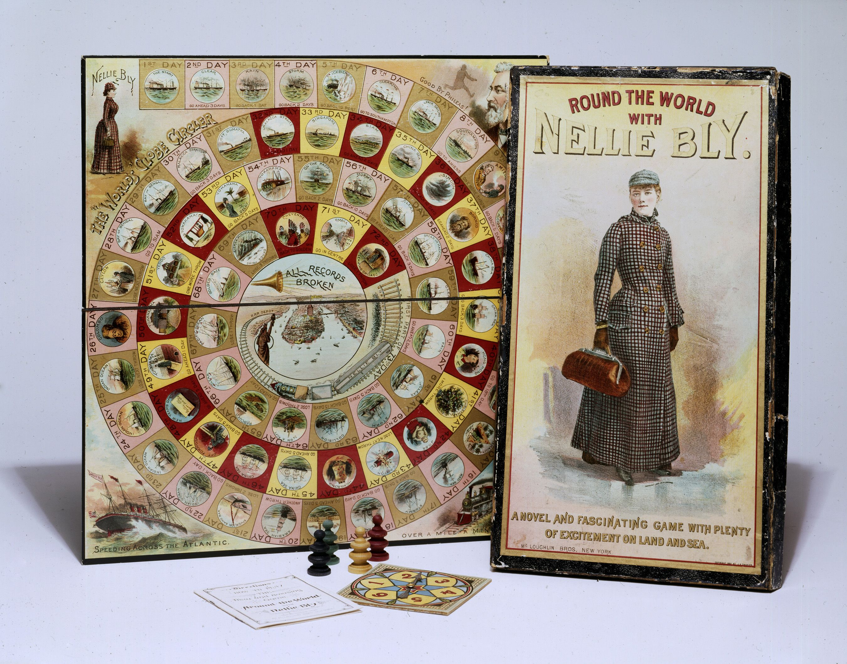 Nellie Bly Board Game With Images Nellie Bly Bly Around The