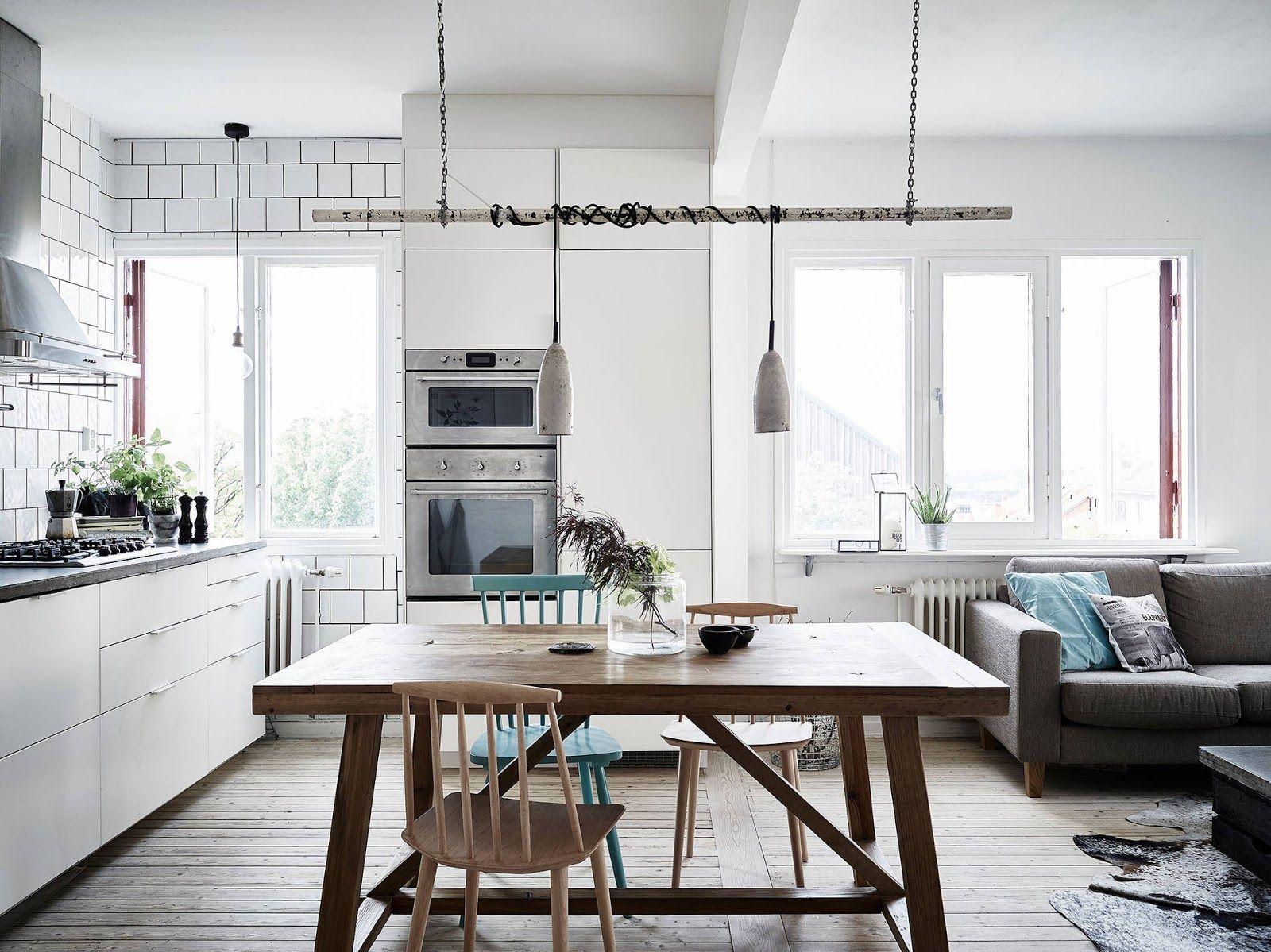 Pani Kroliczek Inspiracje Mieszkanie Z Oryginalna Lampa 60 Home Decor Home Kitchen Floor Plans