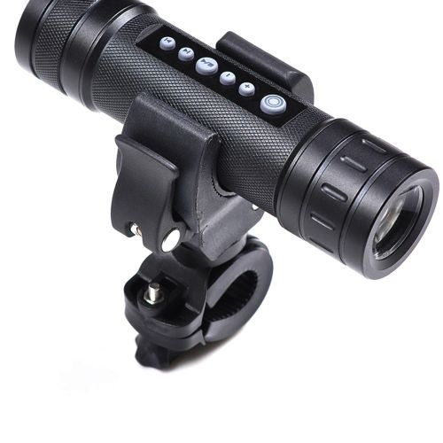 90° Swivel Bicycle Bike Mount Holder Clip Clamp Black for Led Flashlight Torch