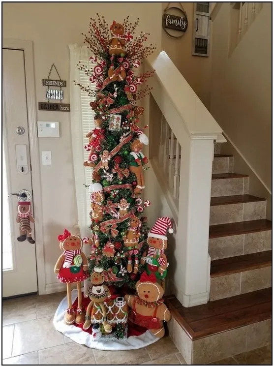102 Pretty Rustic Christmas Tree Decoration Ideas Page 23 Homydepot Com In 2020 Gingerbread Christmas Decor Gingerbread Decorations Christmas Tree Themes