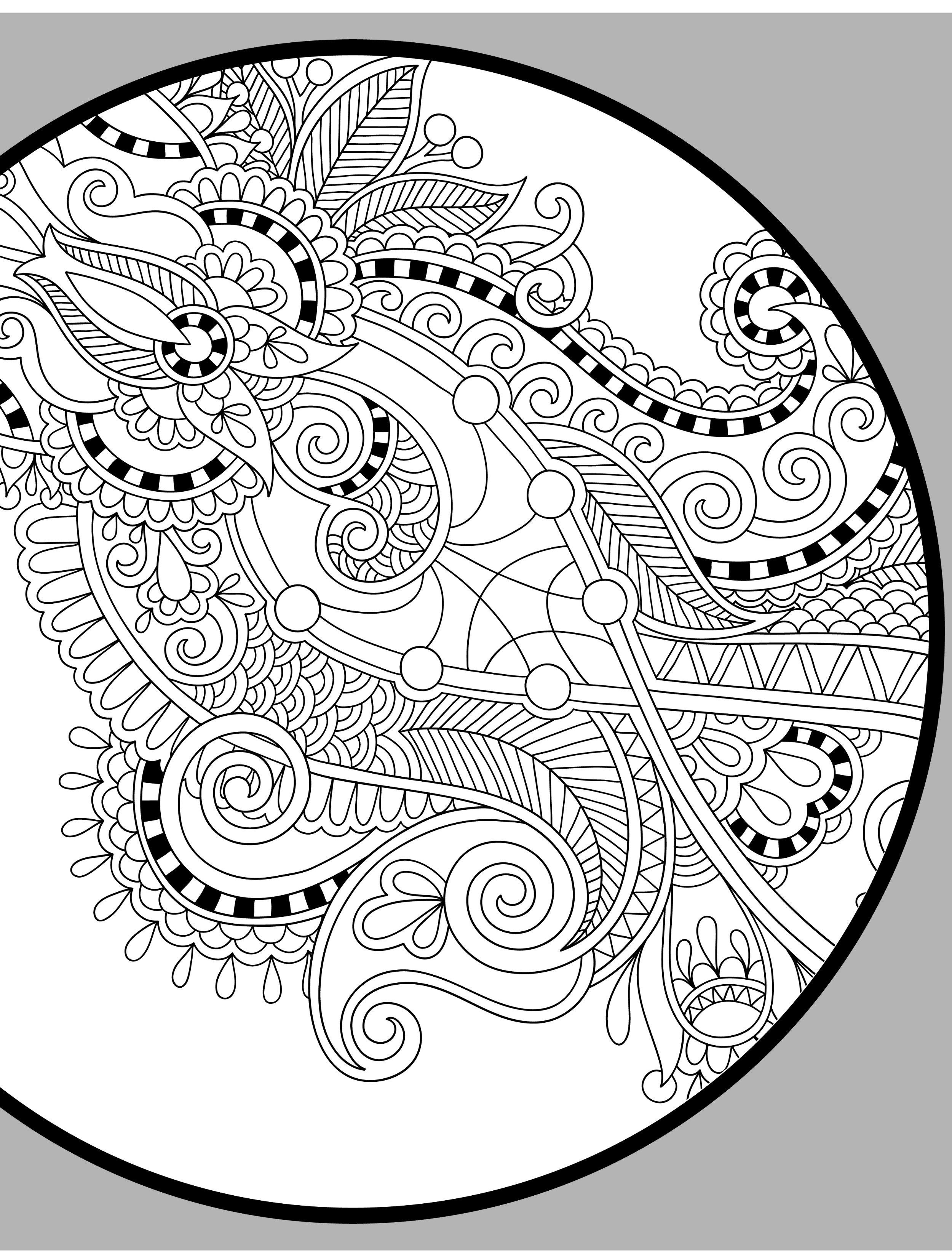 free paisley adult coloring pages - photo#24