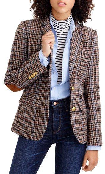 J.Crew Rhodes Houndstooth Wool Blazer (Regular & Petite)
