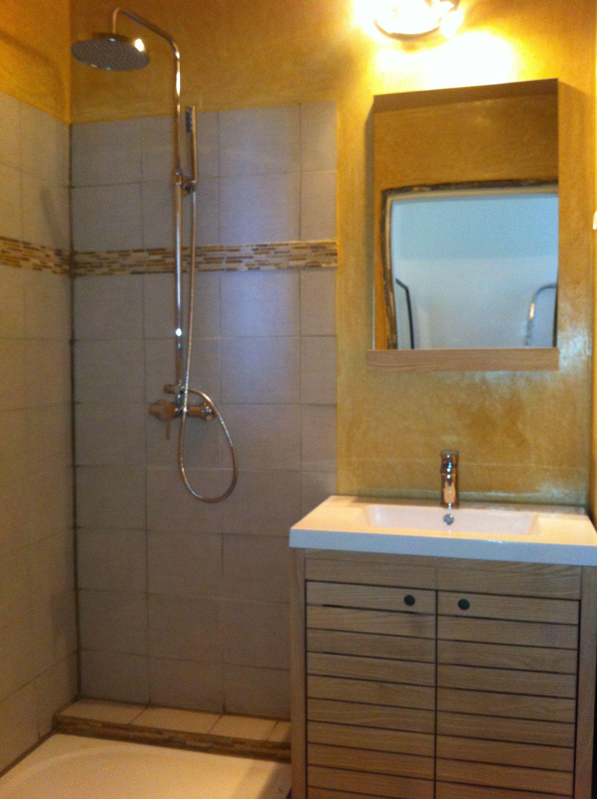 Colonne Double Salle De Bain Ikea ~ salle de bain en tadelakt chaux teinte terre de sienne ocre