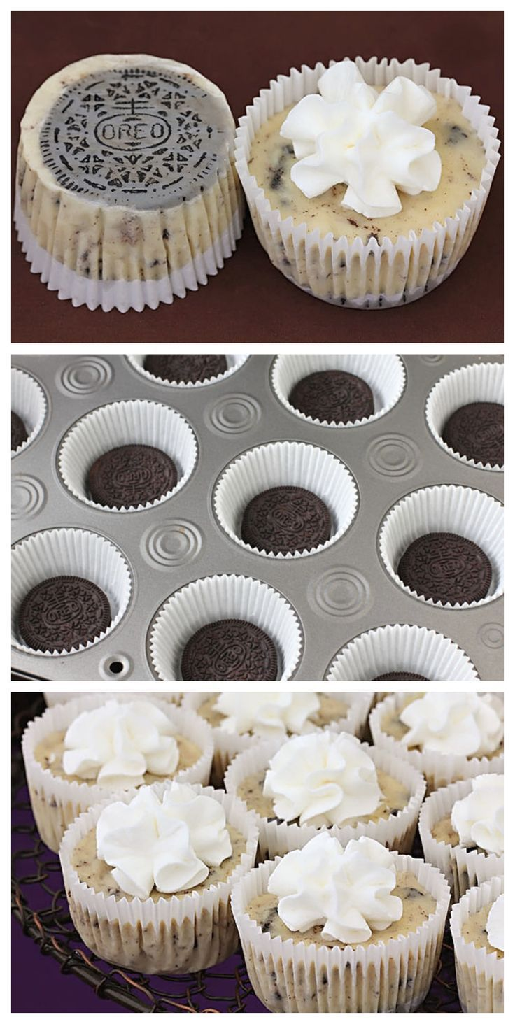 Cookies & Cream Cheesecakes Oreo Cookie Mini Cheesecakes | Oreo Cookie Mini Cheesecakes |