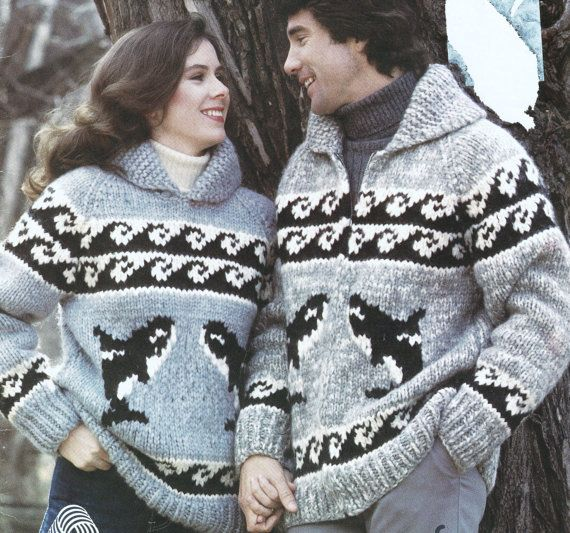 Cowichan Orca Whale Sweater Pattern 6108 Native Canadian Sweater